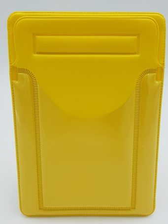 Yellow Velcro Postal Wallet