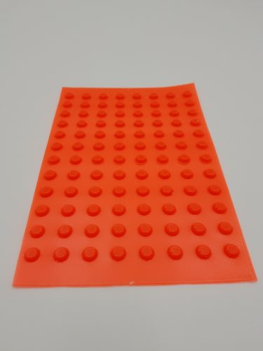 Orange tactile markers (bumpons) Sheet of 96