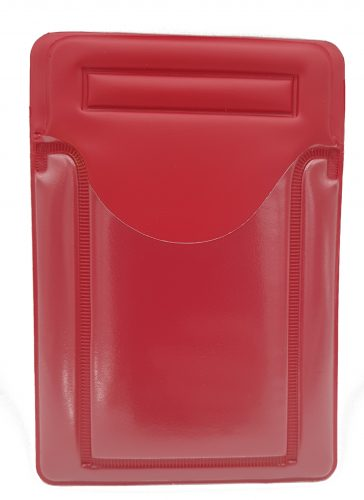 Red velcro postal wallet